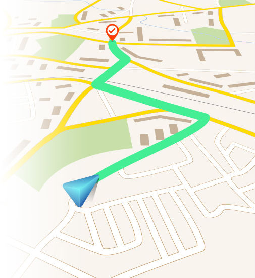GPS view of a map